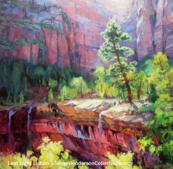 zion utah national park landscape southwest travel steve henderson art