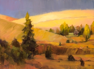 More peaceful. This project is difficult indeed, and it's important to rest and meditate. Homeland 2 by Steve Henderson