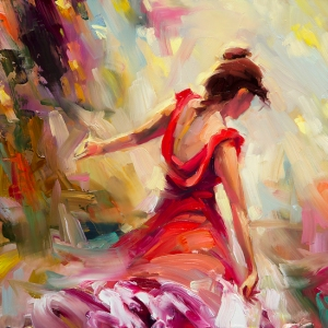 I'm so cool I'm hot these days, although I'm not the beautiful woman in the signed limited edition print by Steve Henderson.