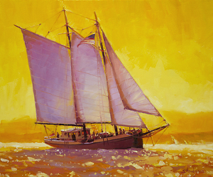 Sometimes, I just mentally sail away from a purchase idea for awhile, and give myself time to think it through. Then, if I make it, I know I've done the right thing. Golden Sea by Steve Henderson