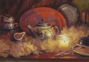There's the teapot again, this time in an original painting available for sale at Steve Henderson Fine Art.
