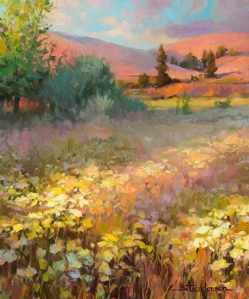 Our chickens, and goats, free range over a field of dreams. Field of Dreams by Steve Henderson.