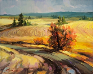 While visual imagery is an essential component of fine art, when it comes to buying a car, we depend more upon facts and information. Highland Road by Steve Henderson