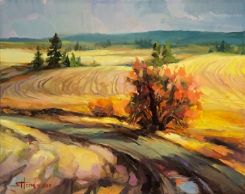 highland road country landscape rural wilderness travel steve henderson painting