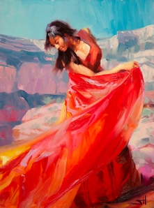 There is much joy in dancing our own dance, thinking our own thoughts. Jubilee, original oil painting available at Steve Henderson Fine Art; open edition print at Great Big Canvas