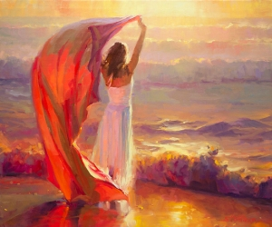 Sweet 16 -- youth will not last forever, but memories endure. Ocean Breeze, open edition art print available at Great Big Canvas. Original and limited edition print at Steve Henderson Fine Art