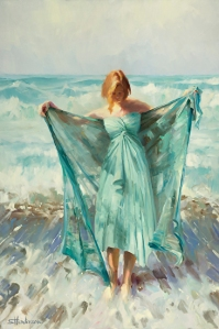 Be real real real -- your amazing, unique, one of a kind self. Aphrodite, original sold; licensed open edition fine art print at Great Big Canvas
