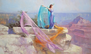 All human beings are made in the image of God, which means that all human beings are extraordinary. Diaphanous -- original painting at Steve Henderson Fine Art; licensed, open edition print at Great Big Canvas.