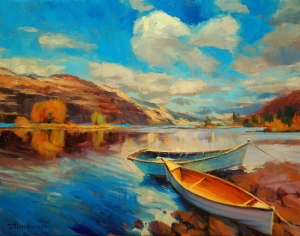 So, if success means that you own a boat, does it matter what the boat looks like? Shore Leave, original and signed limited edition print at Steve Henderson Fine Art, open edition print at Great Big Canvas