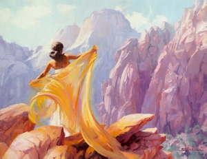 Does the American Dream still exist? And just what is that dream? Dream Catcher, original painting at Steve Henderson Fine Art; licensed open edition print at Great Big Canvas.