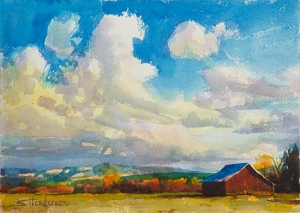Lonesome Barn, another original watercolor painting available at Steve Henderson Fine Art, is a bonus painting you can paint on the Step by Step Art Success DVD.