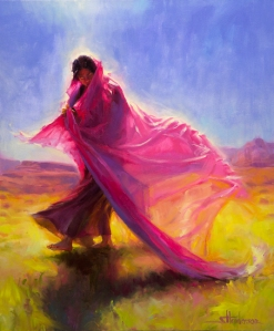 To capture color, movement, and emotion on canvas like this, it takes skill and thousands of hours of practice. But you can enjoy painting at any level. Mesa Walk, licensed open edition print at Light in the Box and Great Big Canvas.
