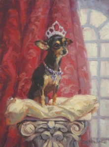 Dreadfully Debutante Dogs are definitely an odd topic to run into more than once. Ruby, original oil painting by Steve Henderson Fine Art