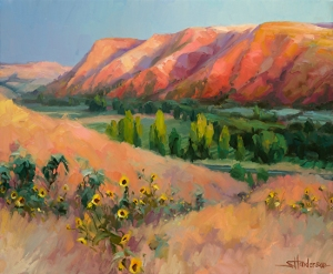 Autumn is on its way, and with it, back to school shopping. Indian Hill, original painting by Steve Henderson sold; licensed open edition print at Light in the Box.