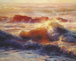 The Bible is like the ocean -- full of life and movement and color and action. Opalescent Sea, original painting at Steve Henderson Fine Art; licensed open edition print at Great Big Canvas.