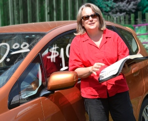 I don't pretend to be anything other than I am -- a middle aged Christian woman who drives a Honda Fit (and I generally leave the Bible at home, next to the sofa). Photo credit Steve Henderson Fine Art