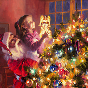 It's never too early, or too late, to think about Christmas. Little Angel Bright by Steve Henderson