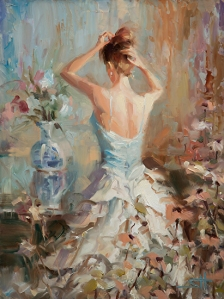 While you're waiting for the casserole to cook, you can do dishes, read a book, or fuss with your hair. Figurative II, licensed open edition print by Steve Henderson at Great Big Canvas, Light in the Box, Amazon, and Rakuten.com