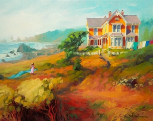 Home is a great place to learn about a lot of things, including socialization. Wild Child, original oil painting by Steve Henderson; licensed open edition print at Great Big Canvas.