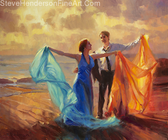 All of the fine art images in my articles are by my husband, Steve Henderson, who sells originals and licensed prints through his website, Steve Henderson Fine Art. You don't have to be rich to own art, and indeed, it's ordinary people living ordinary lives who need art the most!