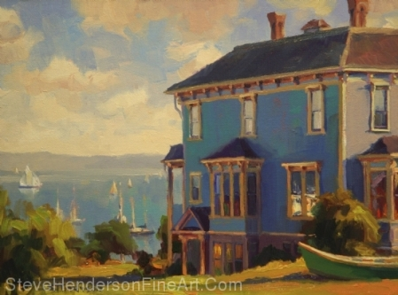 Captain's House original oil painting by Steve Henderson