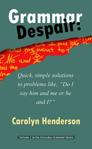 Grammar Despair book by Carolyn Henderson at amazon.com