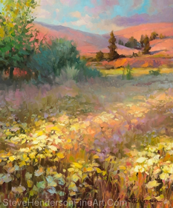 Field of Dreams inspirational original oil painting by Steve Henderson, licensed prints at Framed Canvas Art