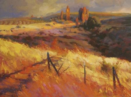 Incandescence inspirational original oil painting by Steve Henderson