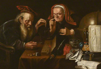 Being wise with our money does not necessarily mean being cheap with our money. The Misers, by 17th century Flemish painter David Ryckaert III