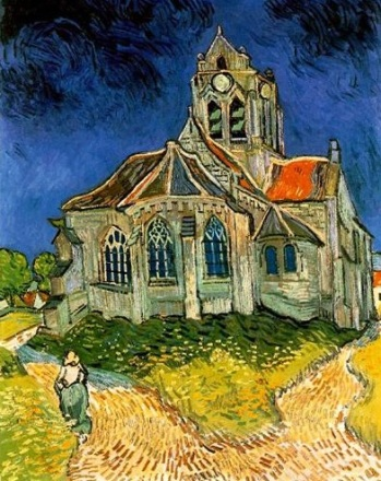 Not all people see the church building, and what it represents, in the same light. The Church at Auvers, by Vincent Van Gogh, circa 1890