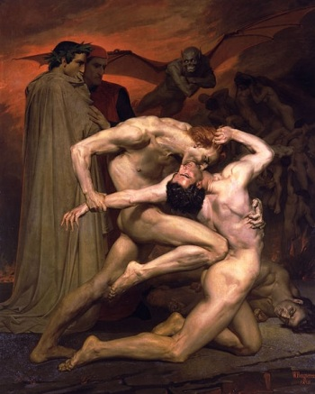 Such is the image of hope promoted by many a traveling preacher. Dante & Virgil in Hell, 1850 painting by Beouguereau