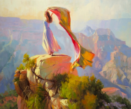 spirit grand canyon southwest arizona woman fabric freedom steve henderson art