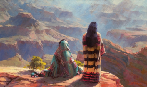 stillness grand canyon indian native american arizona steve henderson painting
