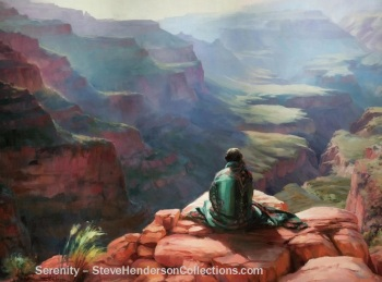 serenity grand canyon southwest arizona national park art steve henderson
