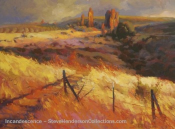 incandescence country field rural meadow landscape steve henderson art painting