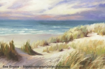 sea breeze coast beach ocean seascape grass sand steve henderson art