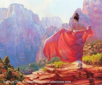 woman walking zion southwest heels beauty steve henderson art