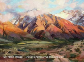 mountain nebo utah wilderness range hills southwest steve henderson painting