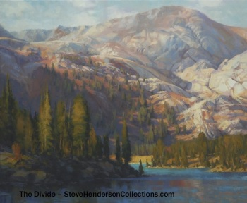 mountain lake alpine wilderness landscape trees steve henderson art
