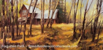 forgotten country path house homestead woods steve henderson art