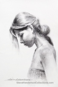 woman thinking meditating praying calm silent steve henderson drawing