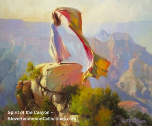 spirit woman sprite grand canyon freedom joy steve henderson art