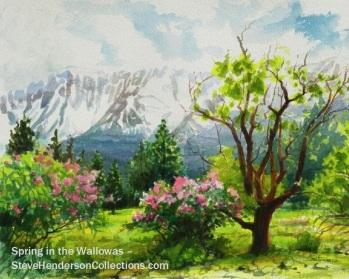 spring springtime blossom hope flowers green steve henderson art
