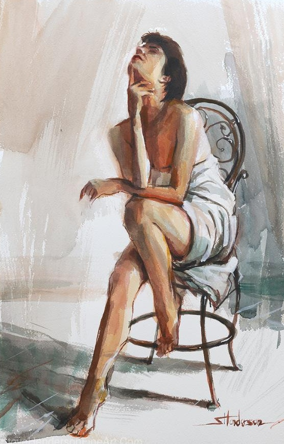 model thinker woman thinking spa bath relaxed freedom chair dancer athlete